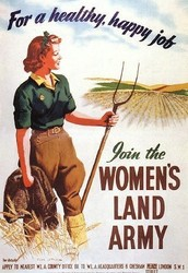 Women growing food for soldiers
