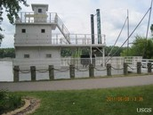 "Missouri River Steamboat ""Grasshoppering"""