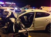 הרכב הפגוע בתאונה