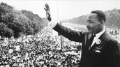 "Martin Luther King Jr delivers his ""I have a dream speech"""