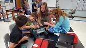 Designing pull toys in 7th grade