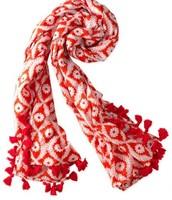 Capri Cotton Wrap (Geranium Floral)