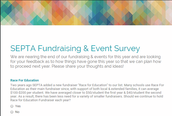 Fundraising & Event Survey