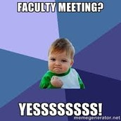 Faculty Meeting on Tuesday