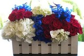 Cute picket fence with carnations