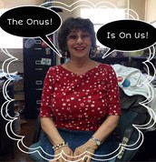 "The ""ONUS IS ON US"" to throw a great party!"