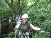 Ziplining in Dominica