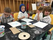 KamP Students Enjoying Art Class