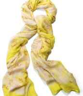 SOLD Palm Springs Scarf - Citrine Floral