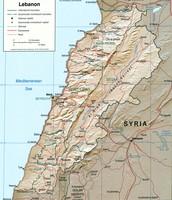 Political Map of Lebanon