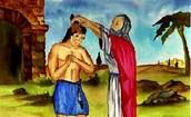 ציור של שמואל מכתיר את שאול למלך לפני ההכרזה לכל העם
