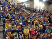 Kinder is ready for their first pep rally
