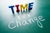 Change takes time..