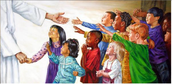 "Jesus said, ""let the little children come to me."" (Mt 19:14)"