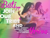 Time to Spice up your Practice! Classic Yoga, Spiraling Tribal Dance moves and Energetic Plyometrics will Lean you out and Free your Spirit!