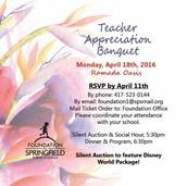 Teacher Appreciation Banquet