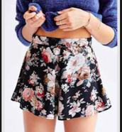 Pantalones cortos florales $17.50