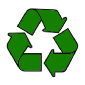 Polymers can be made from recycled materials