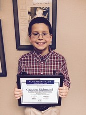 November Value of the Month Student ~ Grayson Richmond