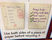 Use both sides of paper before recycling it