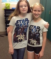 Ella Torney and Sydney Downey were Star Wars twins