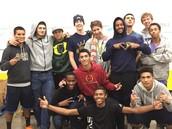 The boys' basketball team creating Bonita Pride!