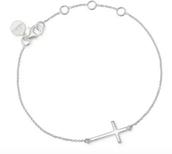 Interlock Cross Bracelet $39