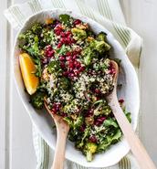 Broccoli and Butternut Squash Grain Salad with Orange Vinaigrette
