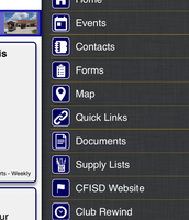 Select Events from the Menu