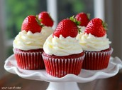Try our Strawberry Velvet Cupcakes!