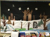 The Living Bulletin Board after it snowed!