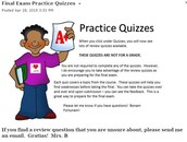 Practice Quizzes- Final Test Prep