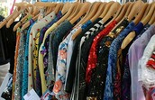 Charities collected old clothes to send and give to people in Europe.