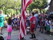 Evergreen Students Raise Flag
