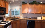 Large Kitchen with Hardwood Floors