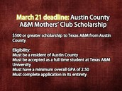Austin County A&M   March 21st