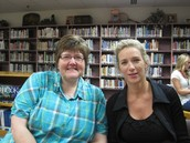 Patti Lindsey, HS Counselor, with Mentor Ann Huntley.