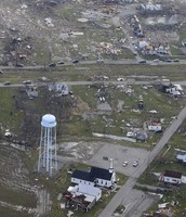 High elevated picture of aftermath