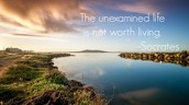 """Theme: """"The unexamined life is not worth living"""""""