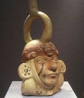 Moche pottery.