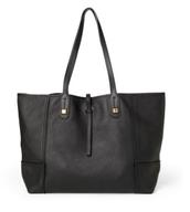 Paris Market Tote- Black Leather