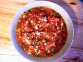 Mezclo los ingredientes juntos y coloque en el tazon