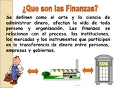 Historia de las finanzas actualmente