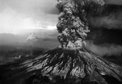 On May 18, 1980 Mount St. Helens had a 4.1 magnitude earthquake that made a huge landslide that made  the north side of the mountain cave in.As the volcano erupted The top of the mountain got a huge crater at the top.