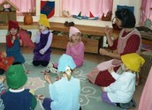 Children Participate in Story Telling