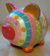 CERAMIC PIG (All ages! Under 5 with an adult)