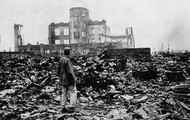 This is Hiroshima when the atomic bomb dropped