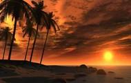 The kingston beach at sunset