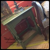 Boxwood Green Chalkpaint Occasional Table ~ $35