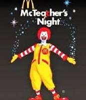 McTeacher Night Tuesday 5-8pm